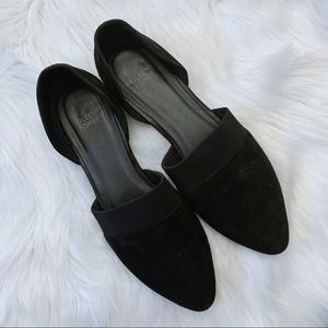 Eileen Fisher Black Suede Flats Flute Pointed Toe